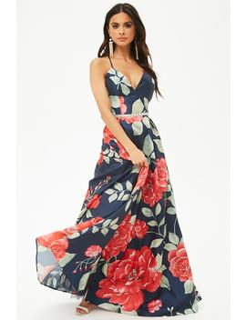 Embellished Floral Gown by Forever 21