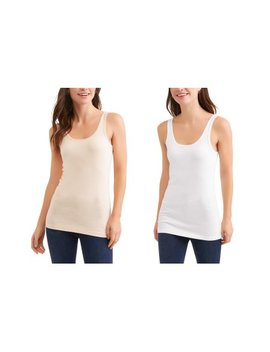 Women's Essential Knit Layering Tank 2 Pack Value Bundle by Time And Tru