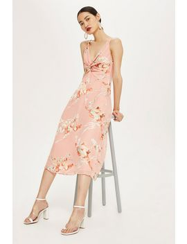 Twist Front Floral Mini Dress by Topshop