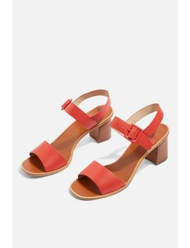 Buckle Heel Sandals by Topshop