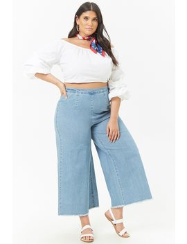 Plus Size Denim Ankle Jeans by F21 Contemporary