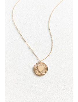 Jennifer Zeuner Jewelry X Uo Fluted Heart Necklace by Jennifer Zeuner Jewelry