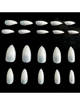 100 Pcs Full Cover Natural Almond Nails Artificial Nep Nagels Nail Tips Oval Fake Stiletto Nails Tips Unas Postizas Jzj013 by Aafke