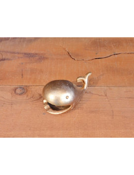Vintage Brass Whale Ashtray by Etsy