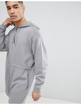 Asos Design Oversized Longline Half Zip Hooded Parka Jacket by Asos Design