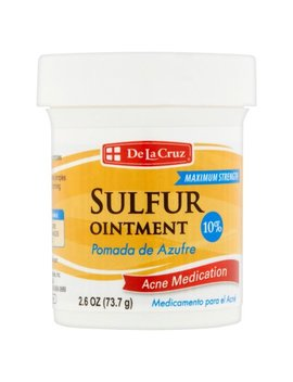 De La Cruz Sulfur Ointment Acne Medication 10 Percents, 2.6 Oz by De La Cruz