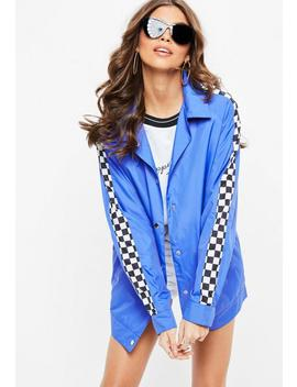 Blue Checkerboard Jacket by Missguided