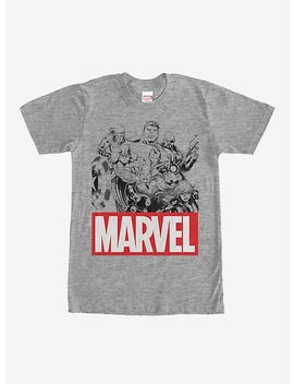 Marvel Heroes Classic Logo T Shirt by Hot Topic
