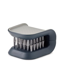 Joseph Joseph 85106 Blade Brush Knife And Cutlery Cleaner Brush Bristle Scrub Kitchen Washing Non Slip, Gray by Joseph Joseph