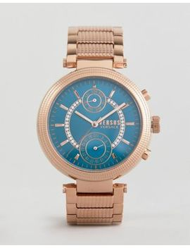 Versus Versace Star Ferry S7908 Bracelet Watch In Rose Gold by Versus Versace
