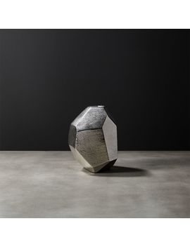 Von Silver Geometric Vase by Crate&Barrel