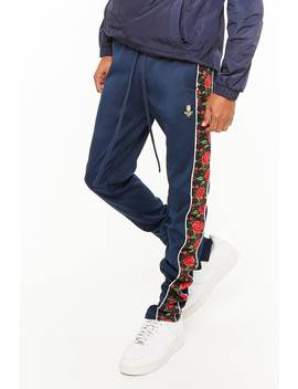 Bkys Floral Stripe Track Pants by Forever 21