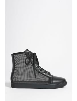 Mesh High Top Sneakers by F21 Contemporary