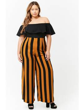 Plus Size Stripe Palazzo Pants by F21 Contemporary