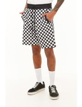 Checkered Print Shorts by Forever 21