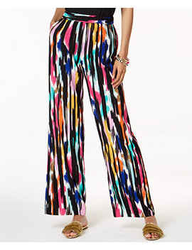 Trina Turk X I.N.C. Ikat Printed Soft Pants, Created For Macy's by Inc International Concepts
