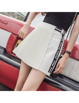 Accordion Pleat A Line Skirt by Efo