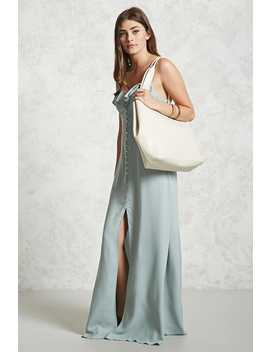 Oversized Faux Leather Tote by F21 Contemporary