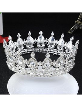Stuffwholesale Silver Crystal Crown Queen Tiara Bridesmaid Wedding Headwear (B) by Stuffwholesale