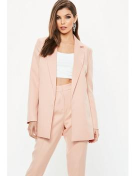 peach-boyfriend-blazer by missguided
