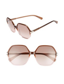 59mm Gradient Lens Hexagonal Sunglasses by Longchamp
