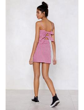 Back Us Gingham Dress by Nasty Gal