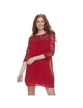 Juniors' Lily Rose Lace Yoke Swing Dress by Kohl's
