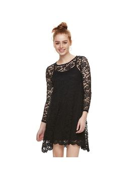 Juniors' Wallflower Lace Swing Dress by Kohl's