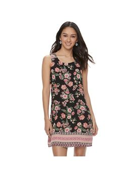 Juniors' Pink Republic Keyhole Back Shift Dress by Kohl's