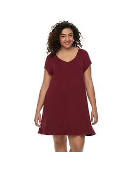 Juniors' Plus Size So® Cross Back Swing Dress by Juniors' Plus Size So