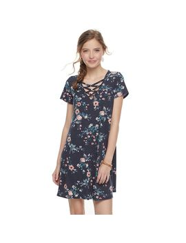Juniors' Love Fire Criss Cross Ribbed Swing Dress by Kohl's
