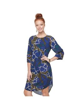 Women's Apt. 9® Print Lace Inset Shift Dress by Apt. 9