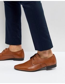 Pier One Leather Derby Shoes In Tan by Pier One