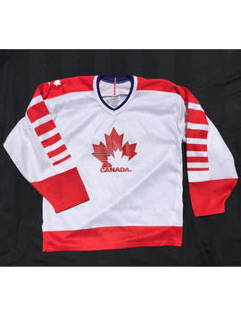 Vintage Canada Ice Hockey Jersey by Etsy