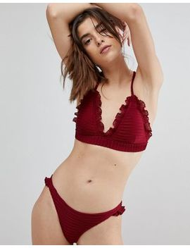 Lost Ink Ruffle Trim Bikini Top by Lost Ink.