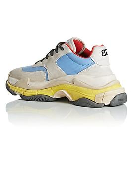 Women's Triple S Suede & Nylon Sneakers by Balenciaga