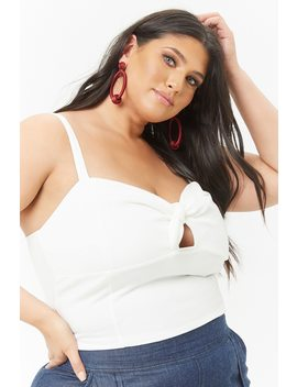 Plus Size Knotted Cropped Cami by F21 Contemporary