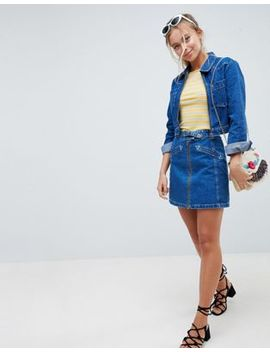Asos Design Denim Skirt With Western Buckle Detail Two Piece by Asos Design