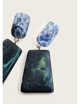 Ohrringe Mit Geometrischen Steinen by Mango