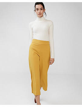 Petite High Waisted Crepe Culottes by Express