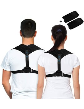Premium Back Support Brace & Posture Corrector For Men & Women, An Ultimate Solution For Kyphosis, Shoulder Support, High Back & Neck Pain Relief, With A Bonus Of Underarm Pads By Branfit. by Branfit