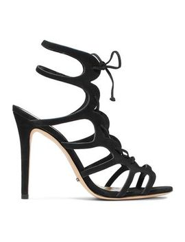 Laurine Lace Up Cutout Nubuck Sandals by Schutz