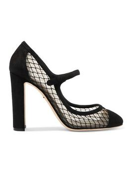 Suede And Mesh Pumps by Dolce & Gabbana