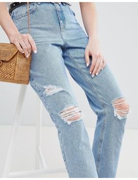 New Look – Mom Jeans Mit Rissen by New Look