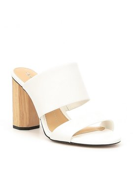 Haulzy Two Piece Block Heel Mules by Gianni Bini