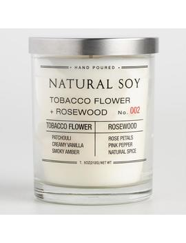 Tobacco Flower And Rosewood Filled Soy Candle by World Market