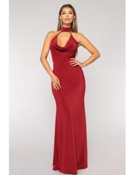 Wedding Date Dress   Wine by Fashion Nova