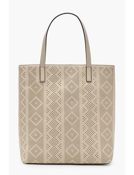 Lily Laser Cut Shopper Bag by Boohoo