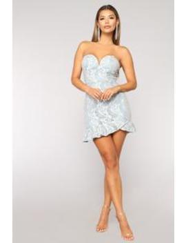 Sweet Treat Lace Dress   Light Blue by Fashion Nova