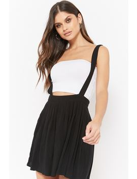 Pleated Suspender Skirt by Forever 21